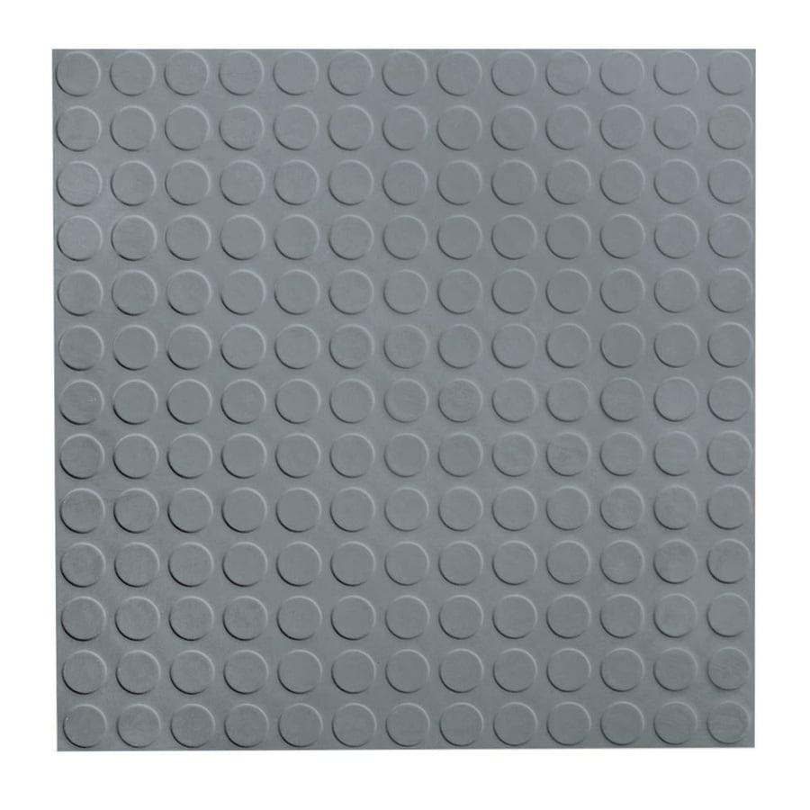 FLEXCO 18-in x 18-in Medium Gray Full-Spread Adhesive Rubber Tile Multipurpose Flooring
