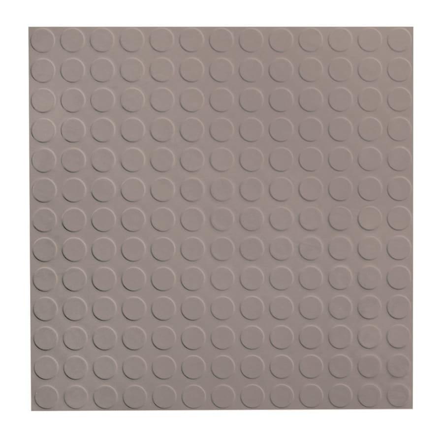 FLEXCO 18-in x 18-in Pebble Full-Spread Adhesive Rubber Tile Multipurpose Flooring
