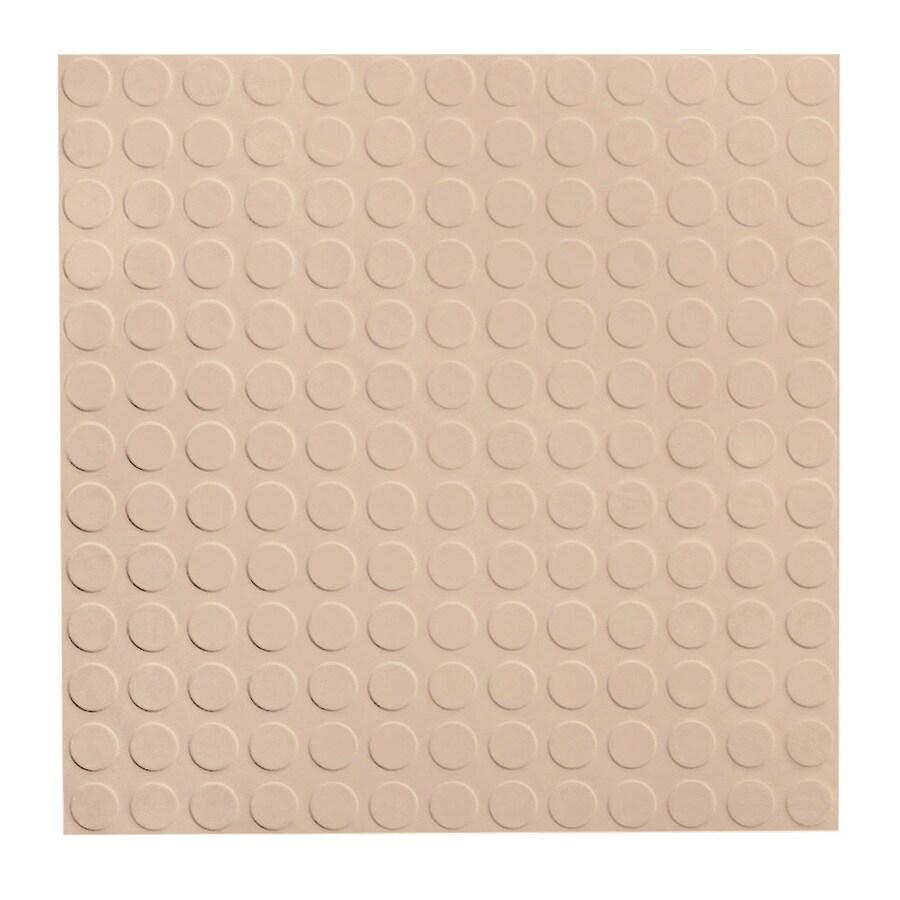 FLEXCO 18-in x 18-in Dune Full-Spread Adhesive Rubber Tile Multipurpose Flooring