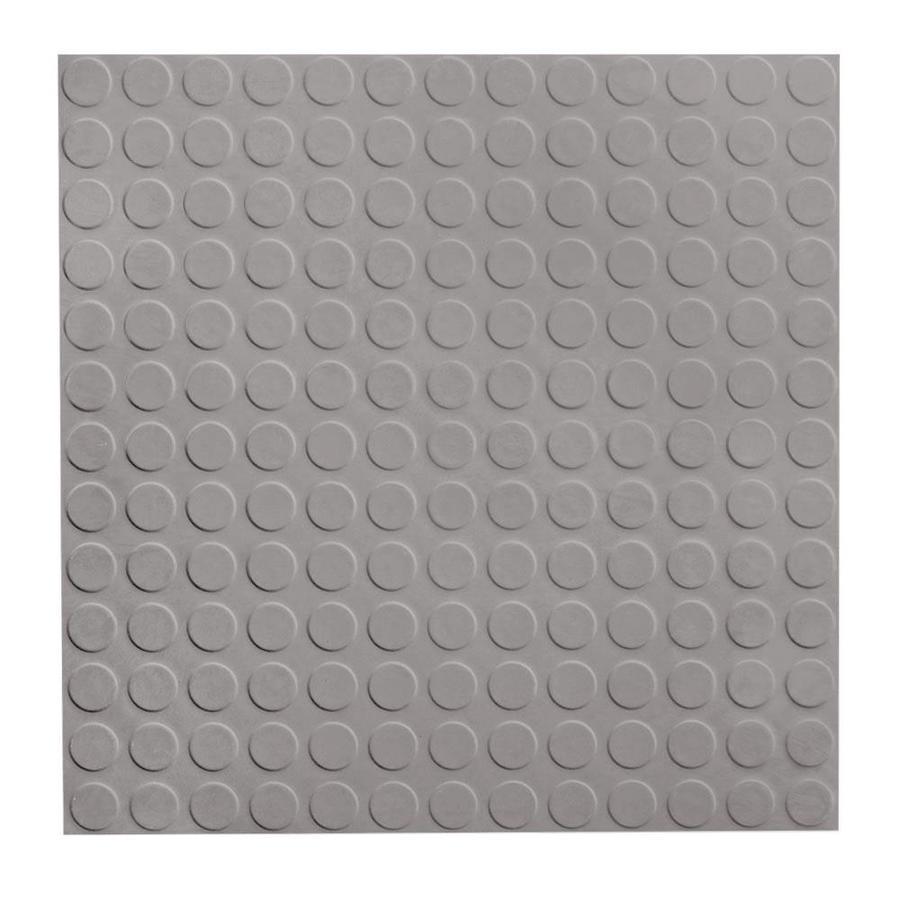 FLEXCO 18-in x 18-in Gray Full-Spread Adhesive Rubber Tile Multipurpose Flooring