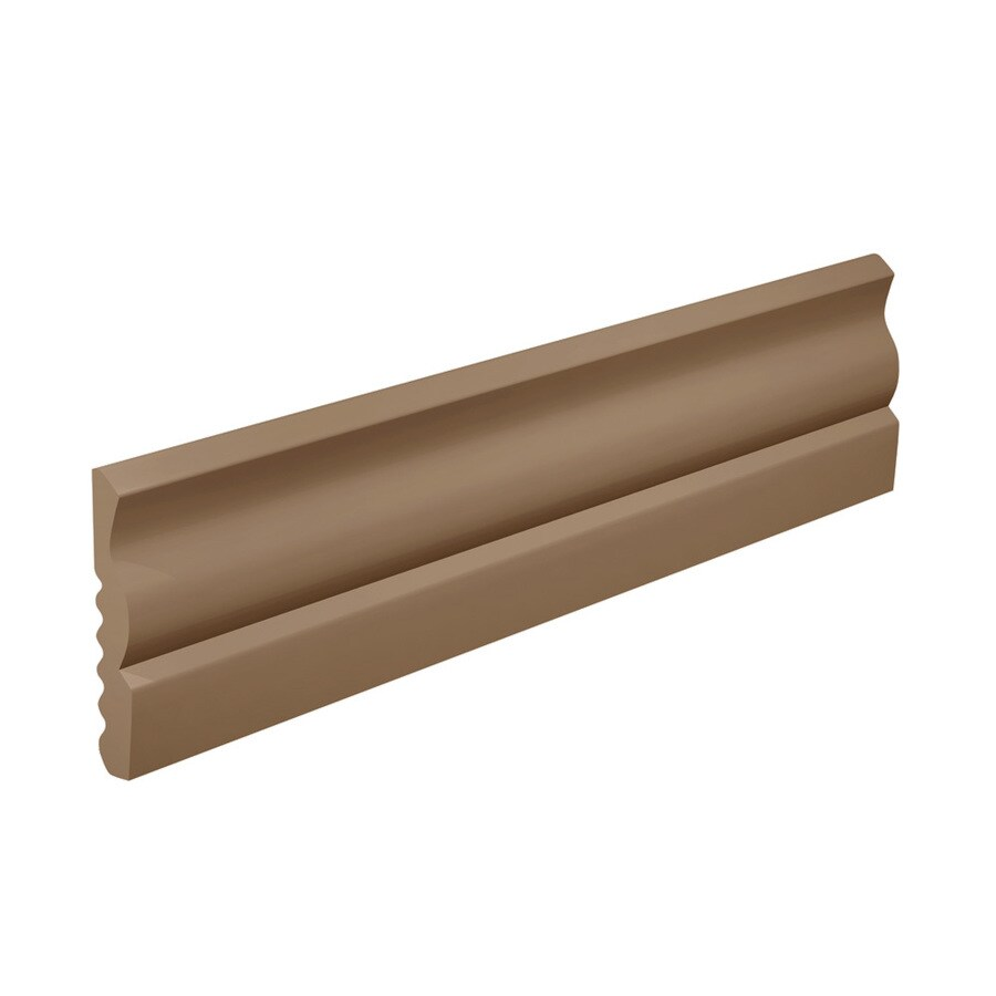 FLEXCO 2.625-in W x 40-ft L Cappuccino Thermoplastic Rubber Standard Wall Base