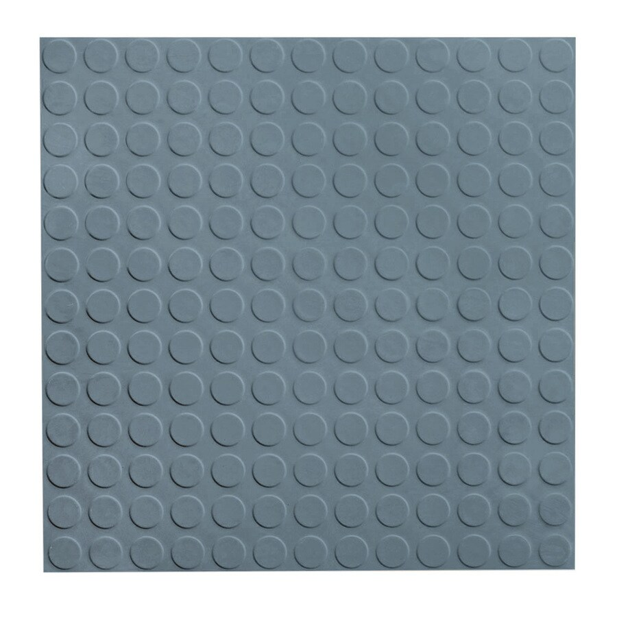 FLEXCO 18-in x 18-in Blue Shadow Full-Spread Adhesive Rubber Tile Multipurpose Flooring