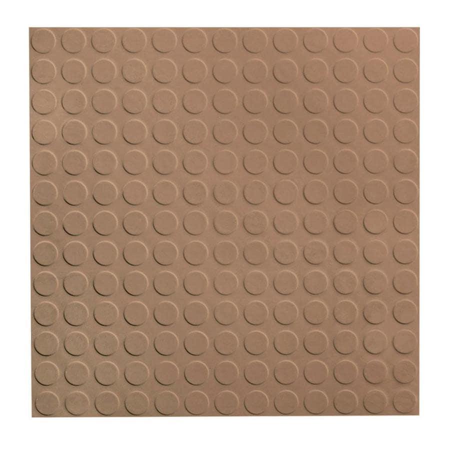 FLEXCO 18-in x 18-in Cappuccino Full-Spread Adhesive Rubber Tile Multipurpose Flooring