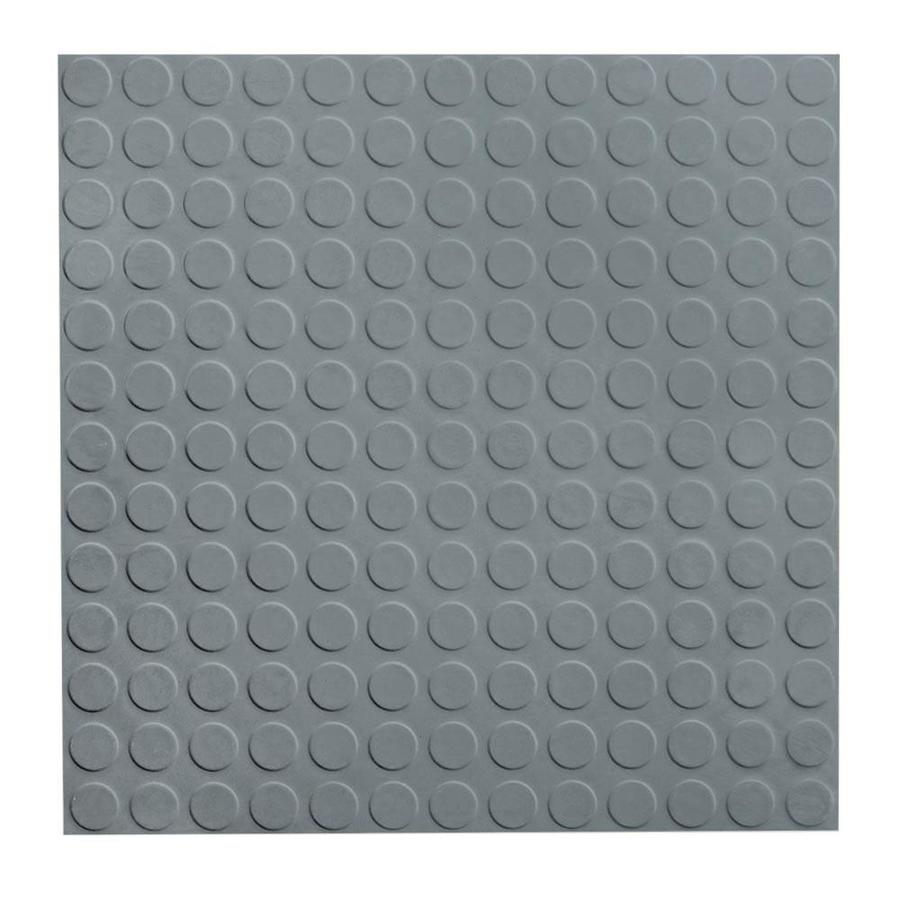 FLEXCO 18-in x 18-in Medium Gray Full-Spread Adhesive Rubber Tile Multipurpose Flooring