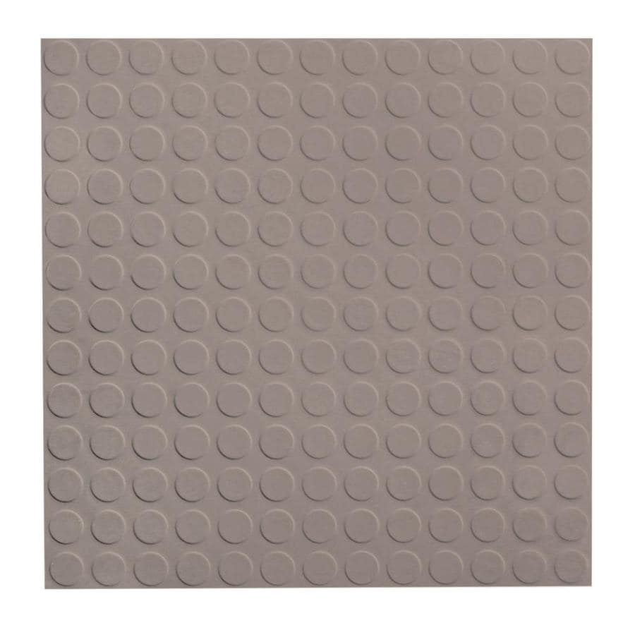 FLEXCO 18-in x 18-in Pebble Full-Spread Adhesive Rubber Tile Multipurpose Flooring