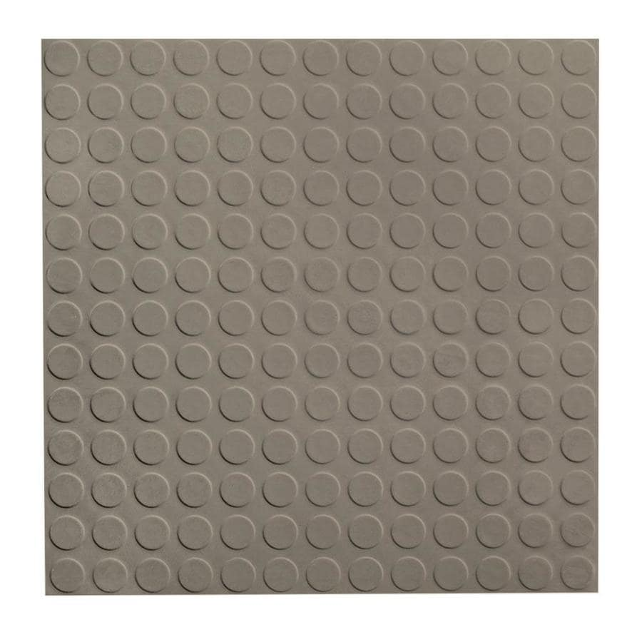 FLEXCO 18-in x 18-in Stone Full-Spread Adhesive Rubber Tile Multipurpose Flooring
