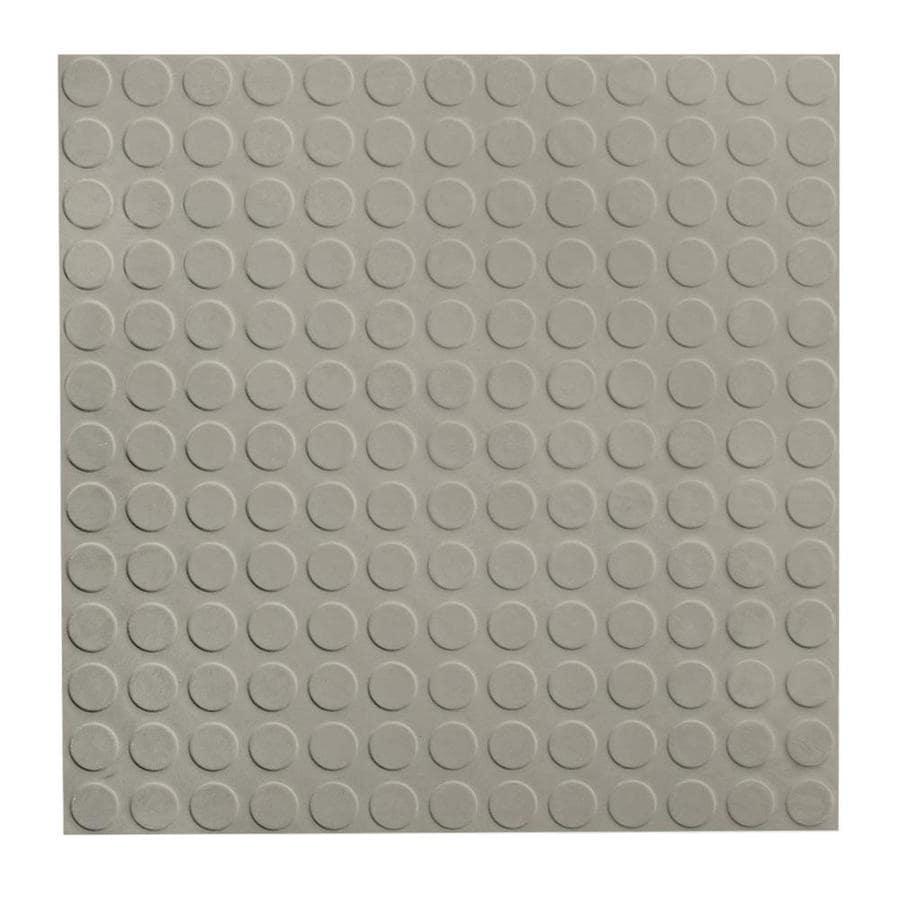 FLEXCO 18-in x 18-in Light Gray Full-Spread Adhesive Rubber Tile Multipurpose Flooring