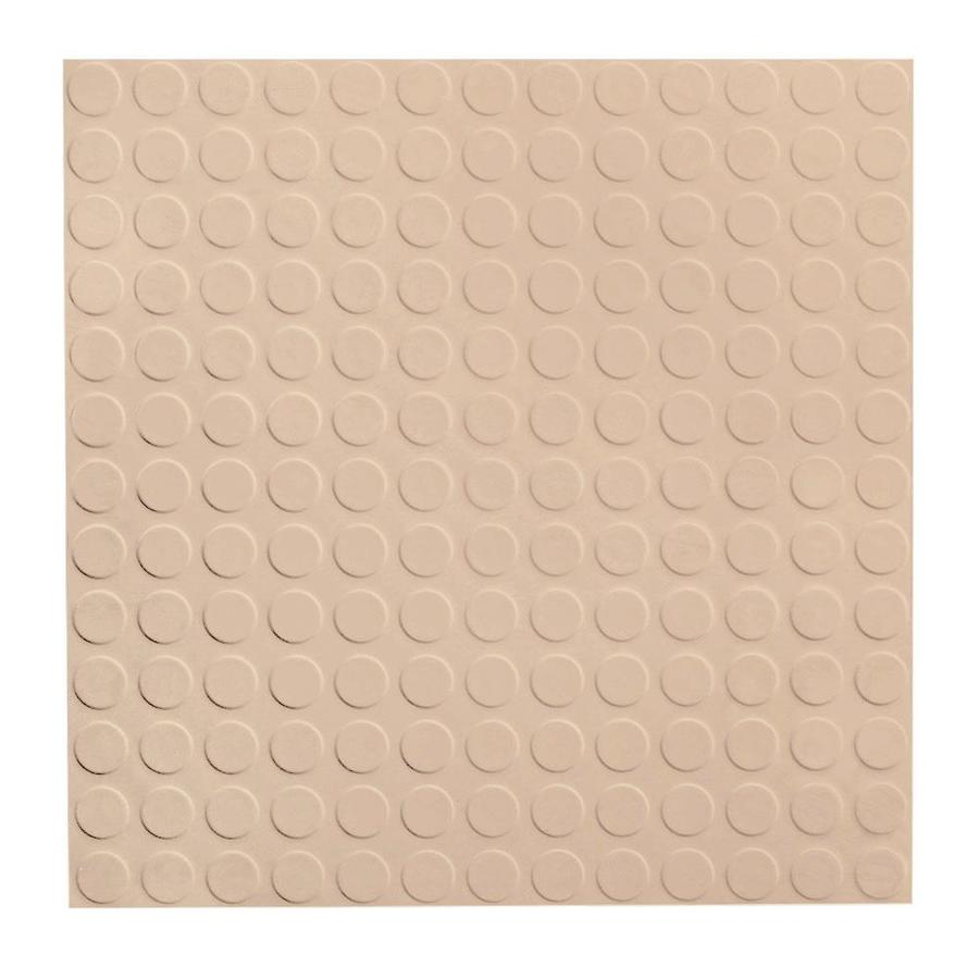 FLEXCO 18-in x 18-in Dune Full-Spread Adhesive Rubber Tile Multipurpose Flooring