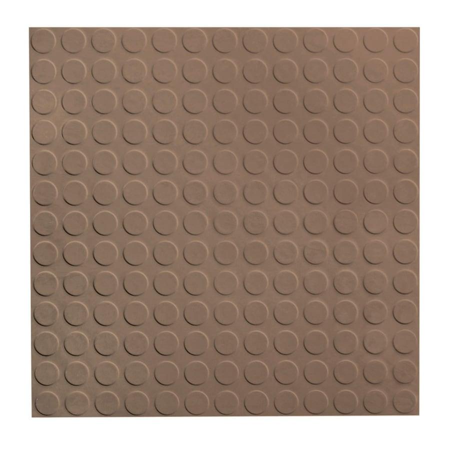 FLEXCO 18-in x 18-in Milk Chocolate Full-Spread Adhesive Rubber Tile Multipurpose Flooring