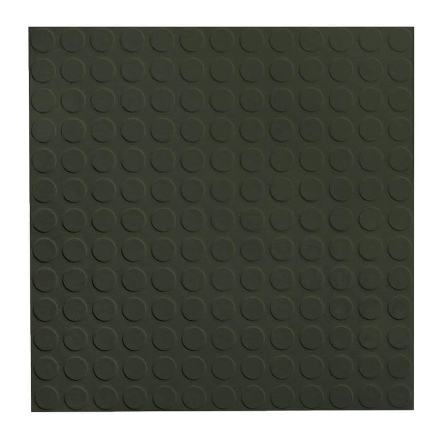 FLEXCO 18-in x 18-in Black/Brown Full-Spread Adhesive (Solid Color) Rubber Tile Multipurpose Flooring