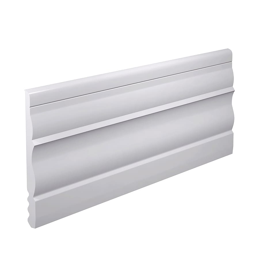 FLEXCO 4.5-in W x 40-ft L Arctic White Thermoplastic Rubber Wall Base