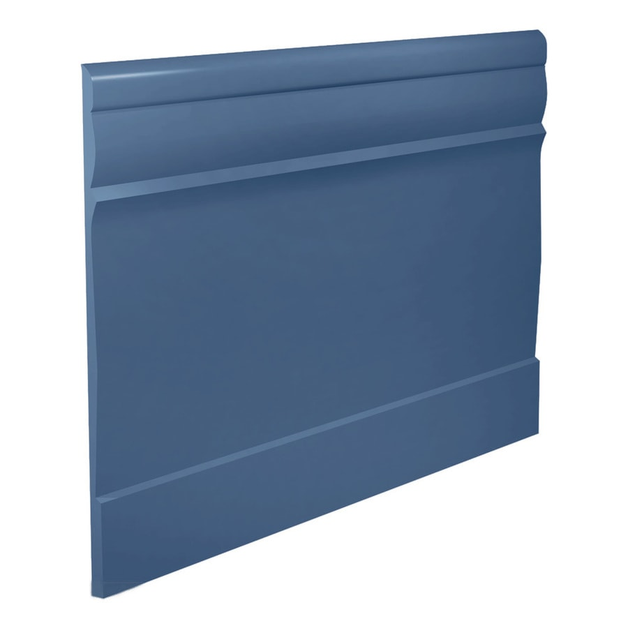 FLEXCO 7.75-in W x 40-ft L Blue Thermoplastic Rubber Wall Base
