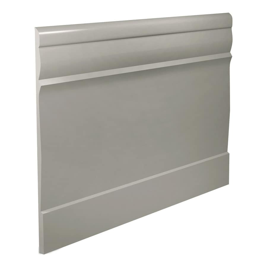 FLEXCO 7.75-in W x 40-ft L Light Gray Thermoplastic Rubber Wall Base