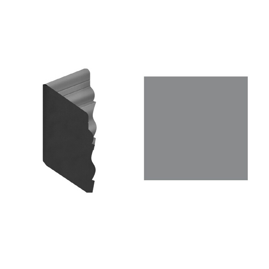 FLEXCO 4.5-in W x 0.5-ft L Gray Wall Base