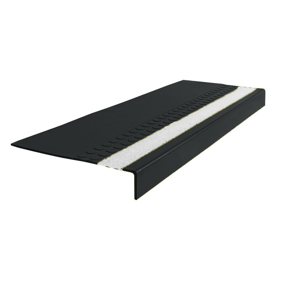 "FLEXCO FLEXCO Rubber Stair Tread Radial Square Nose with Grit Strip #575 54""x.3125""x12.25"""