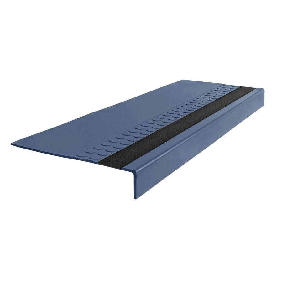"FLEXCO FLEXCO Rubber Stair Tread Radial Square Nose with Grit Strip #575 54""x0.3125""x12.25"""