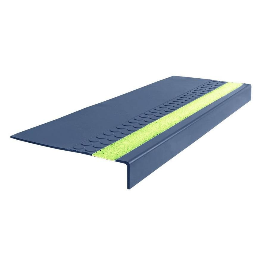 "FLEXCO FLEXCO Rubber Stair Tread Radial Square Nose with Grit Strip #575 48""x.3125""x12.25"""