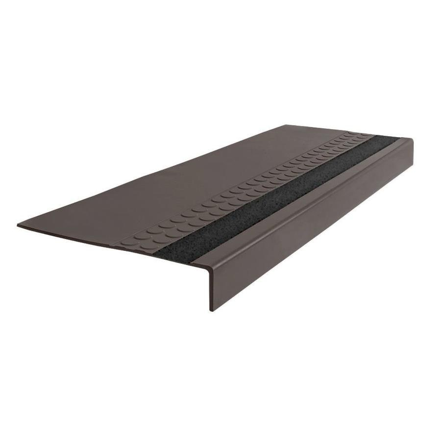 FLEXCO 12-in x 48-in Bark Rubber Square Nose Stair Treads