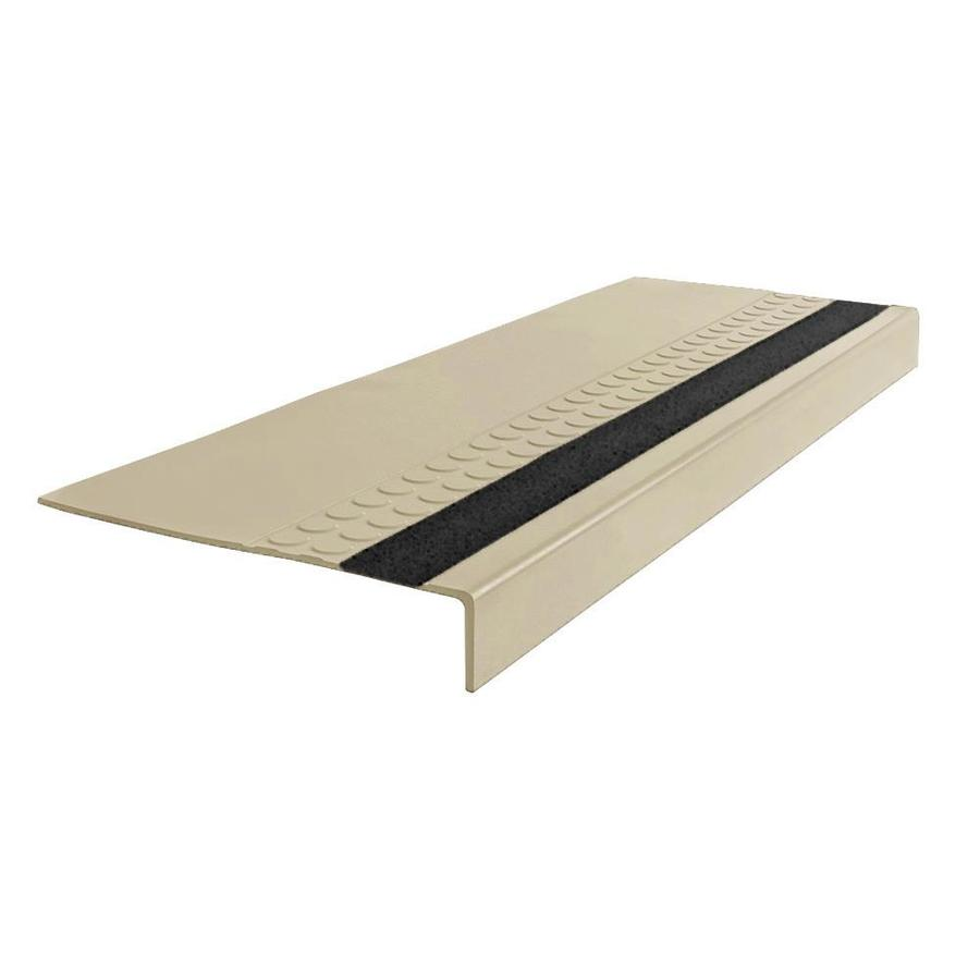 "FLEXCO FLEXCO Rubber Stair Tread Radial Square Nose with Grit Strip #575 42""x0.3125""x12.25"""