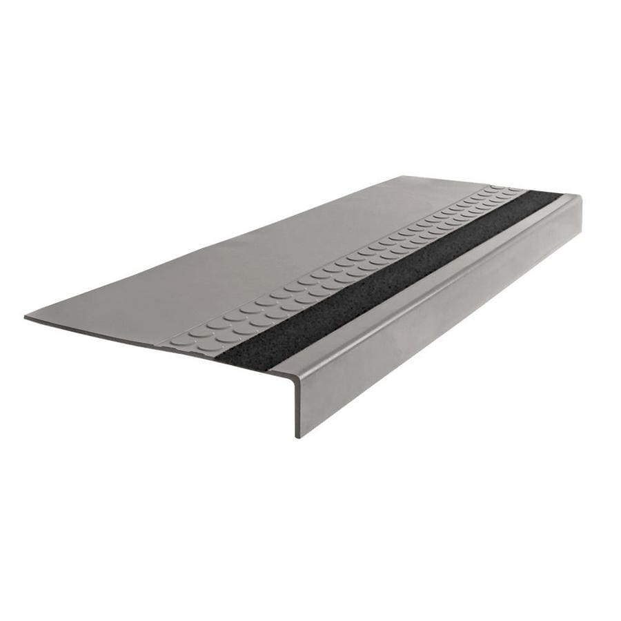 FLEXCO 12-in x 48-in Pebble Rubber Square Nose Stair Treads