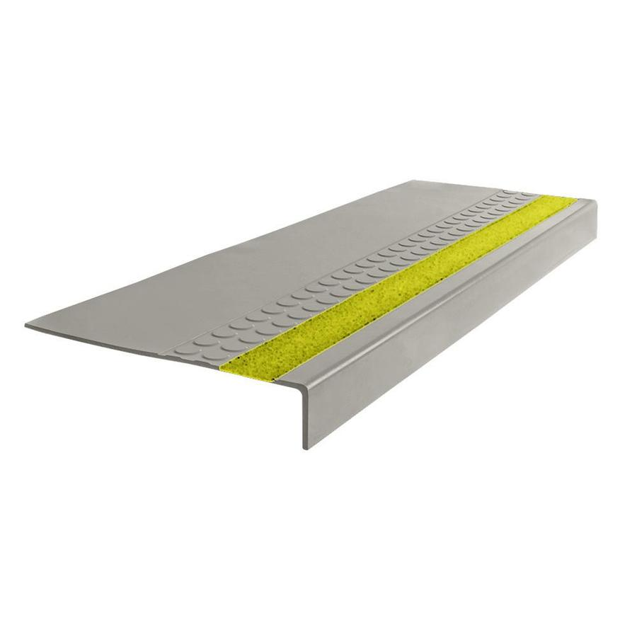 Shop Flexco 12 In X 54 In Light Gray Rubber Square Nose