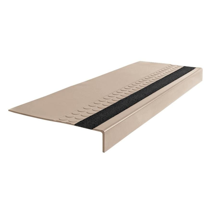 FLEXCO 12-in x 48-in Dune with Ocean Gray Grit Strip Rubber Square Nose Stair Treads