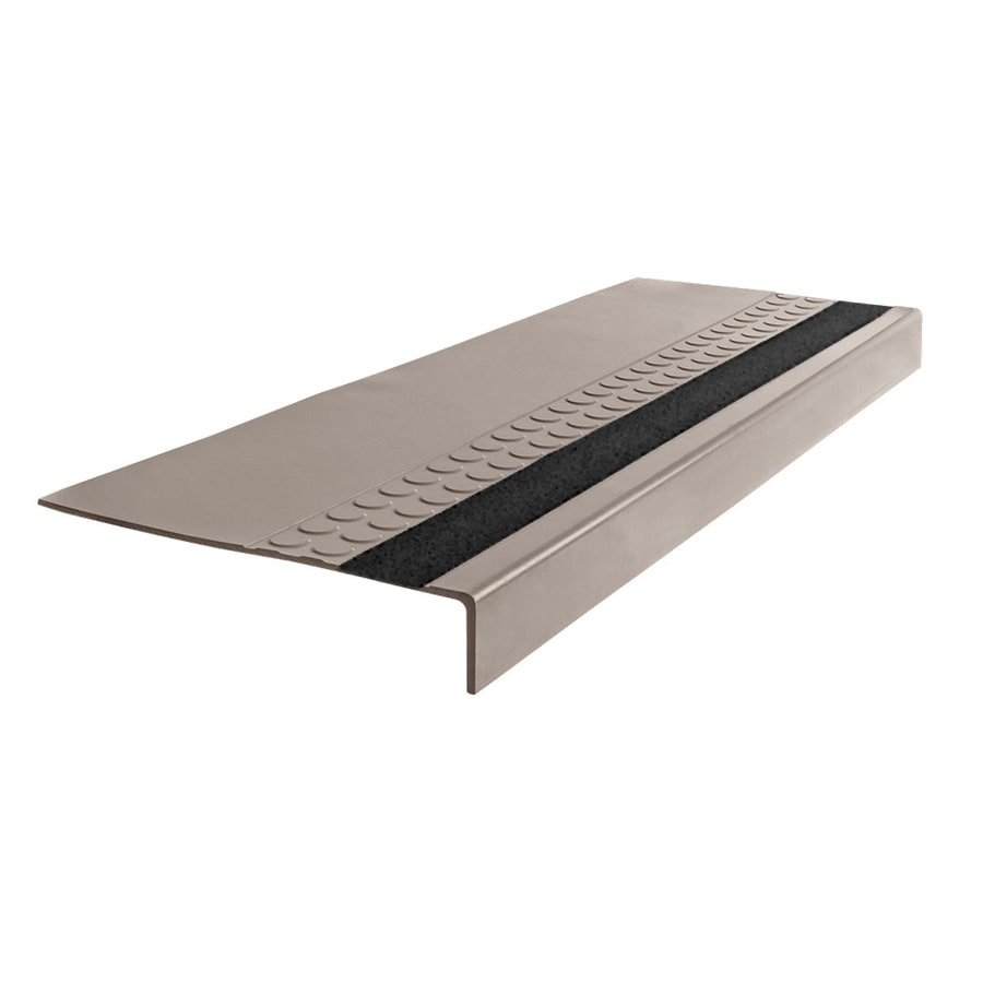 "FLEXCO Rubber Stair Tread Radial Square Nose with Grit Strip #575 54"" x.3125"" x 12.25"""