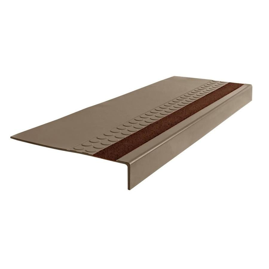FLEXCO 12-in x 42-in Milk Chocolate Rubber Square Nose Stair Treads