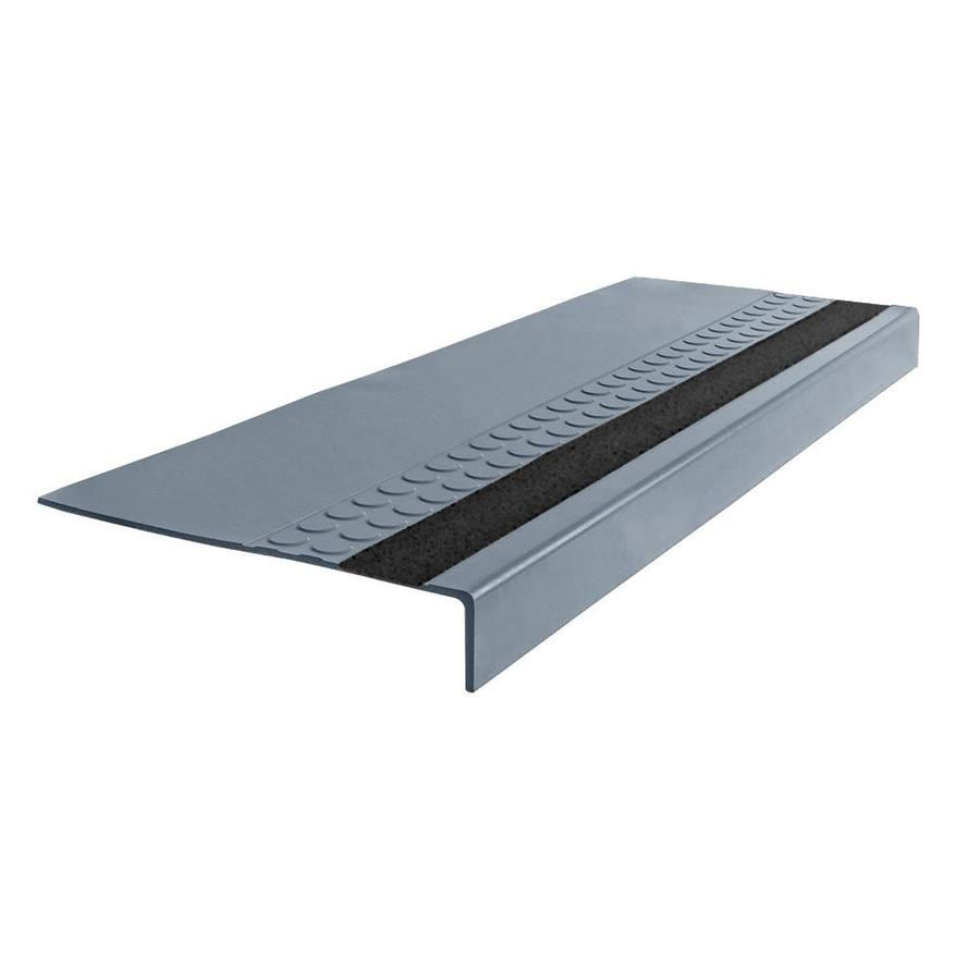 FLEXCO 12-in x 48-in Blue Shadow Rubber Square Nose Stair Treads