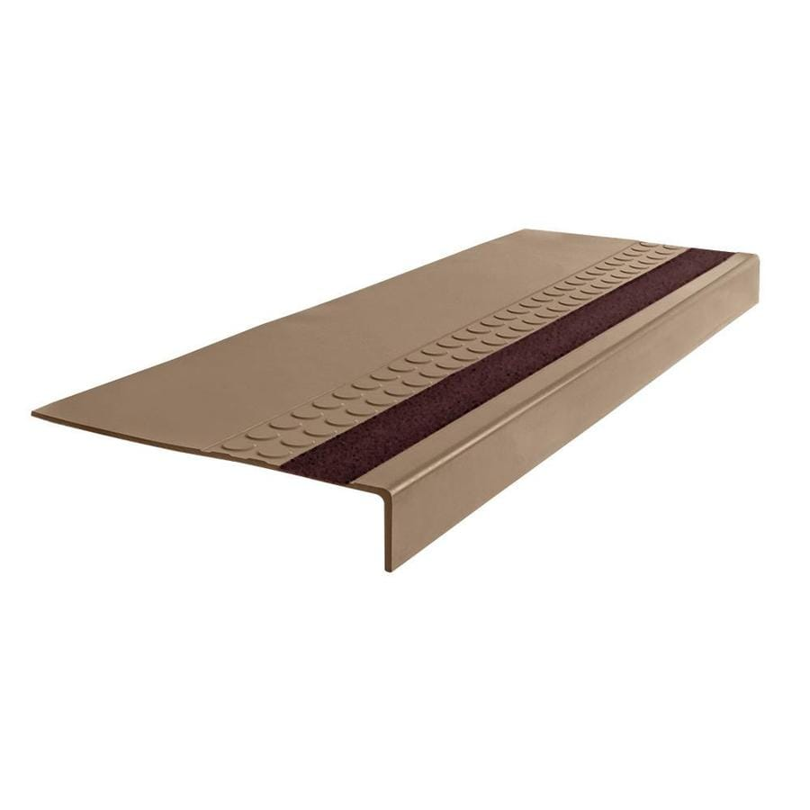 "FLEXCO FLEXCO Rubber Stair Tread Radial Square Nose w/Grit Strip #575 48""x.3125""x12.25"""