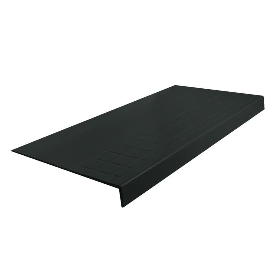 FLEXCO 12.25-in x 42-in Black Dahlia Rubber Square Nose Stair Treads
