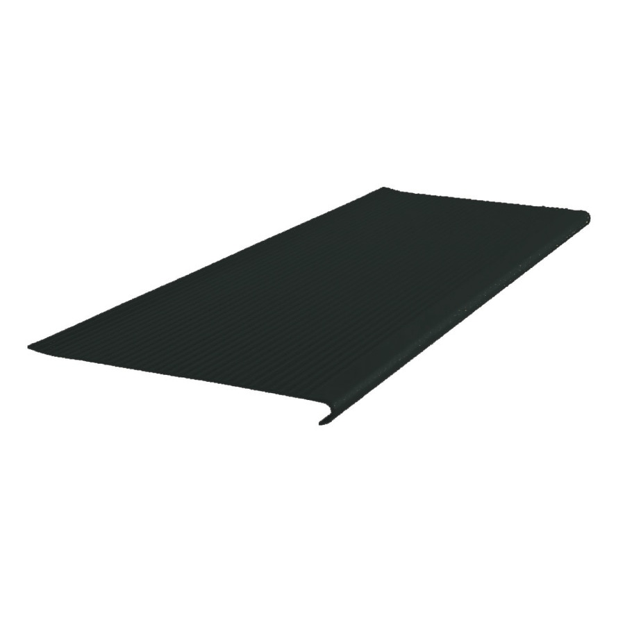 FLEXCO 12.5-in x 42-in Black Dahlia Vinyl Round Nose Stair Treads