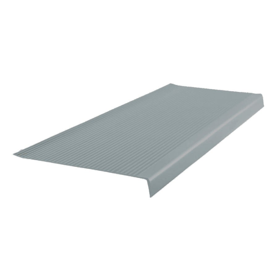 FLEXCO 12.5-in x 42-in Medium Gray Vinyl Square Nose Stair Treads