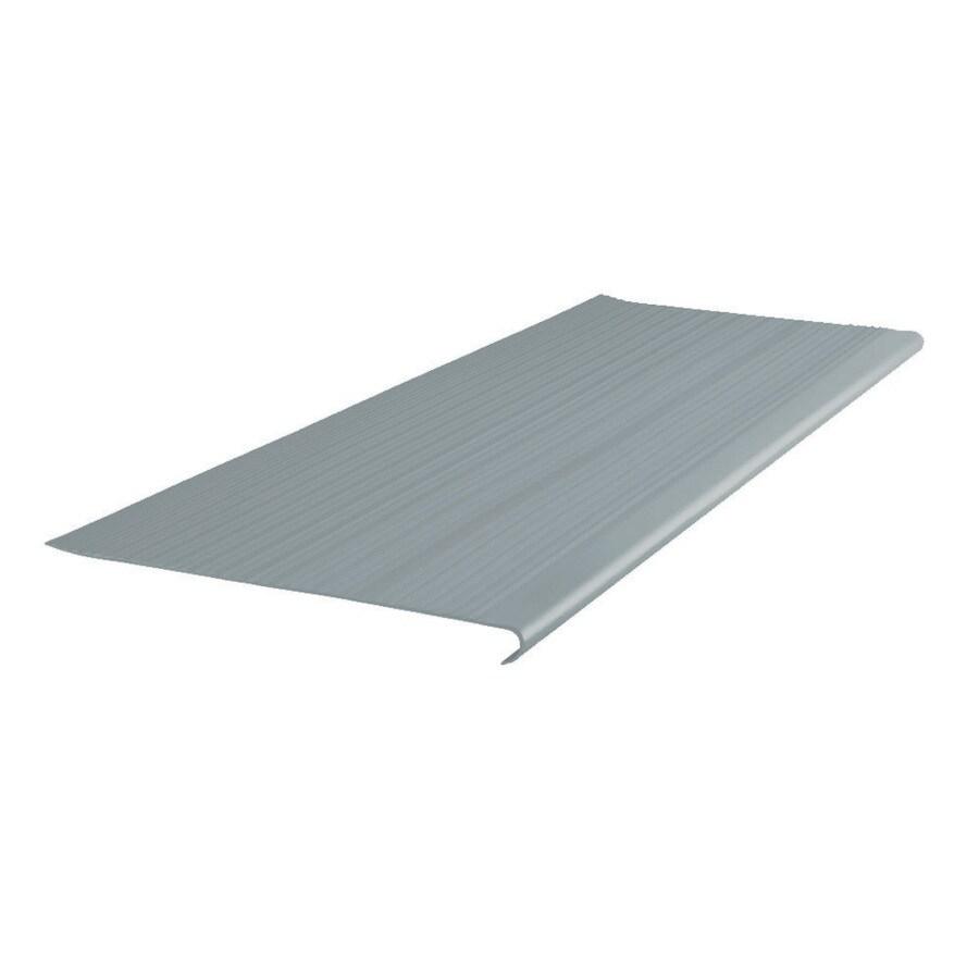 FLEXCO 12.5-in x 42-in Medium Gray Vinyl Round Nose Stair Treads