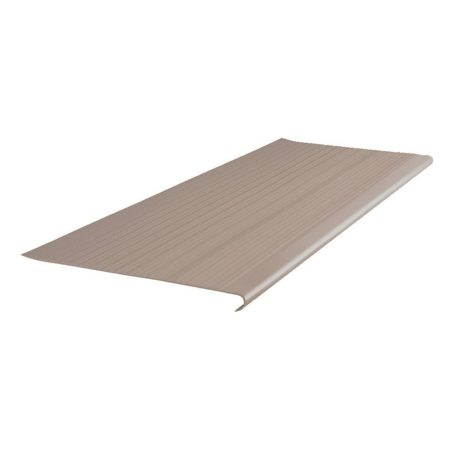 FLEXCO 12.5-in x 42-in Dark Beige Vinyl Round Nose Stair Treads