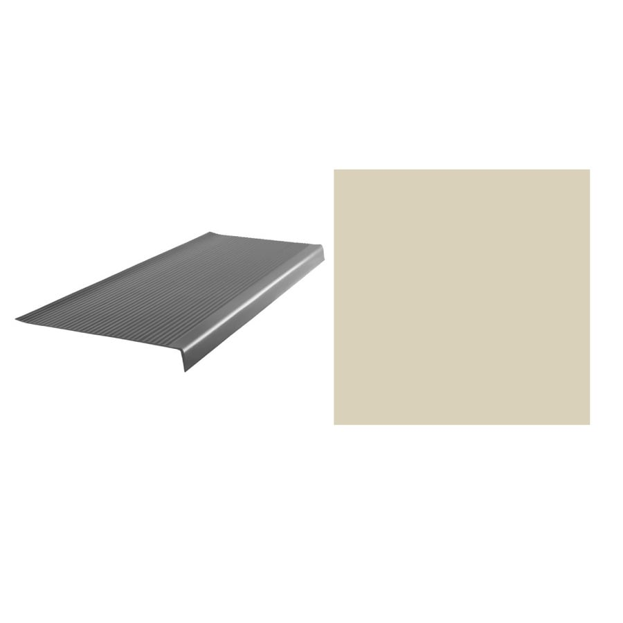 FLEXCO 6-Pack 42-in x 1/4-in x 12-1/2-in Vinyl Square Nose Stair Treads