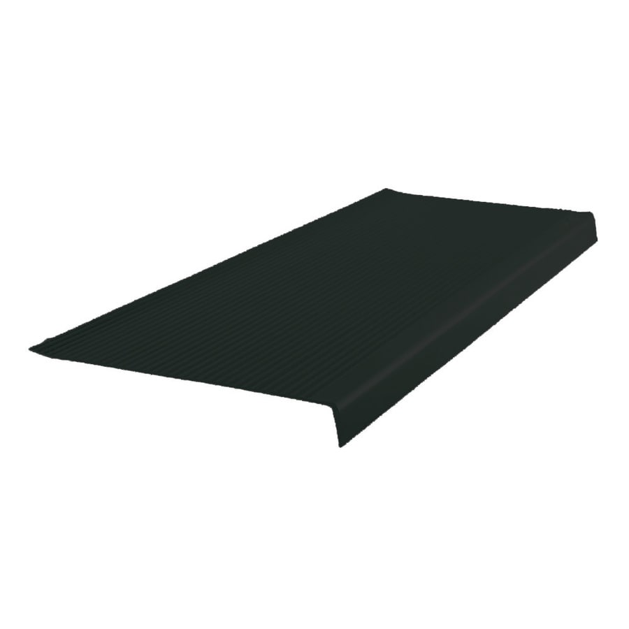 Shop FLEXCO 125 in X 48 in Black Dahlia Vinyl Square Nose