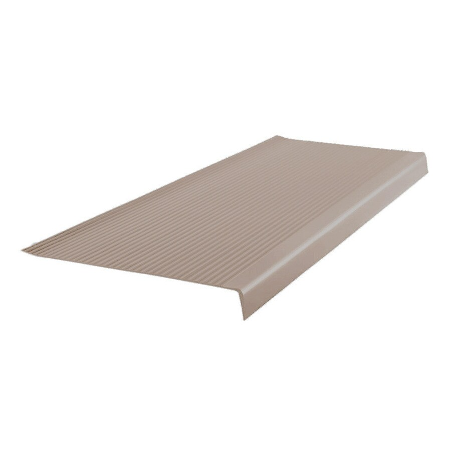 FLEXCO 12.5-in x 48-in Dark Beige Vinyl Square Nose Stair Treads