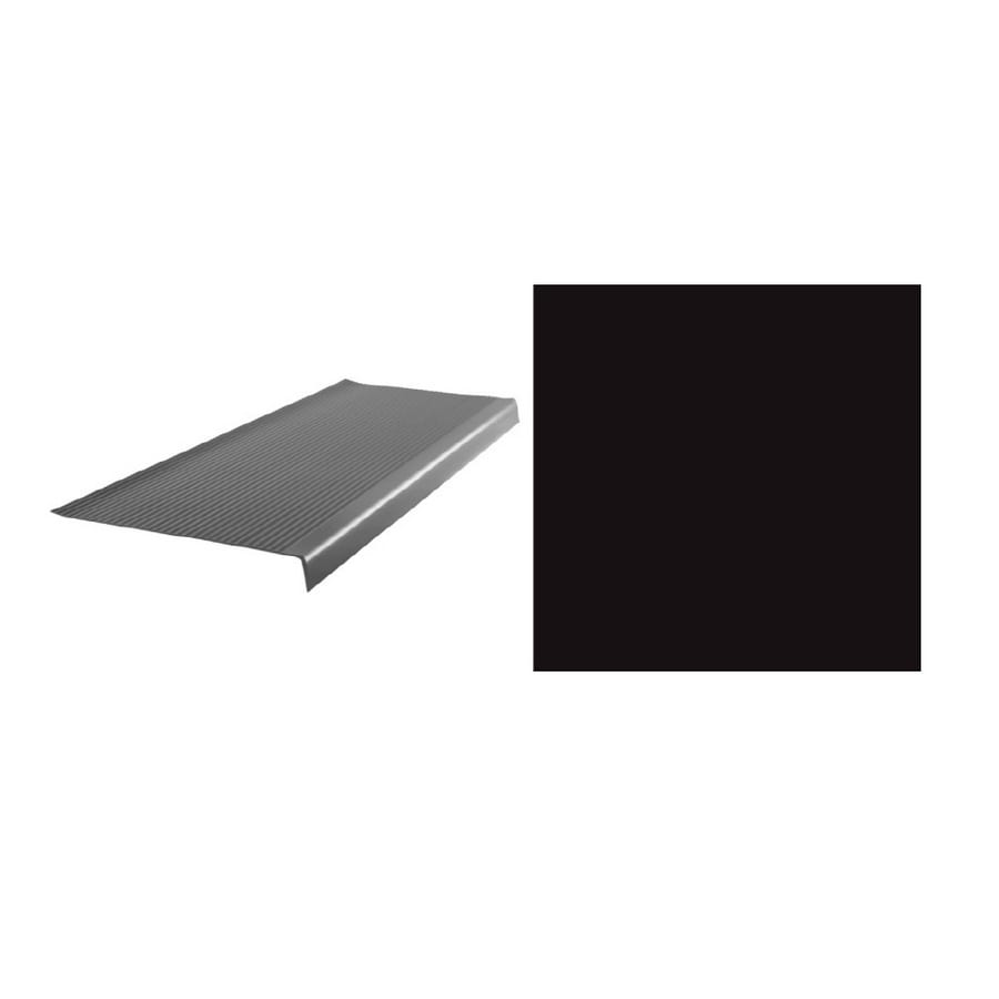 FLEXCO 10-Pack Black Dahlia Vinyl Rib Square Nose Stair Treads