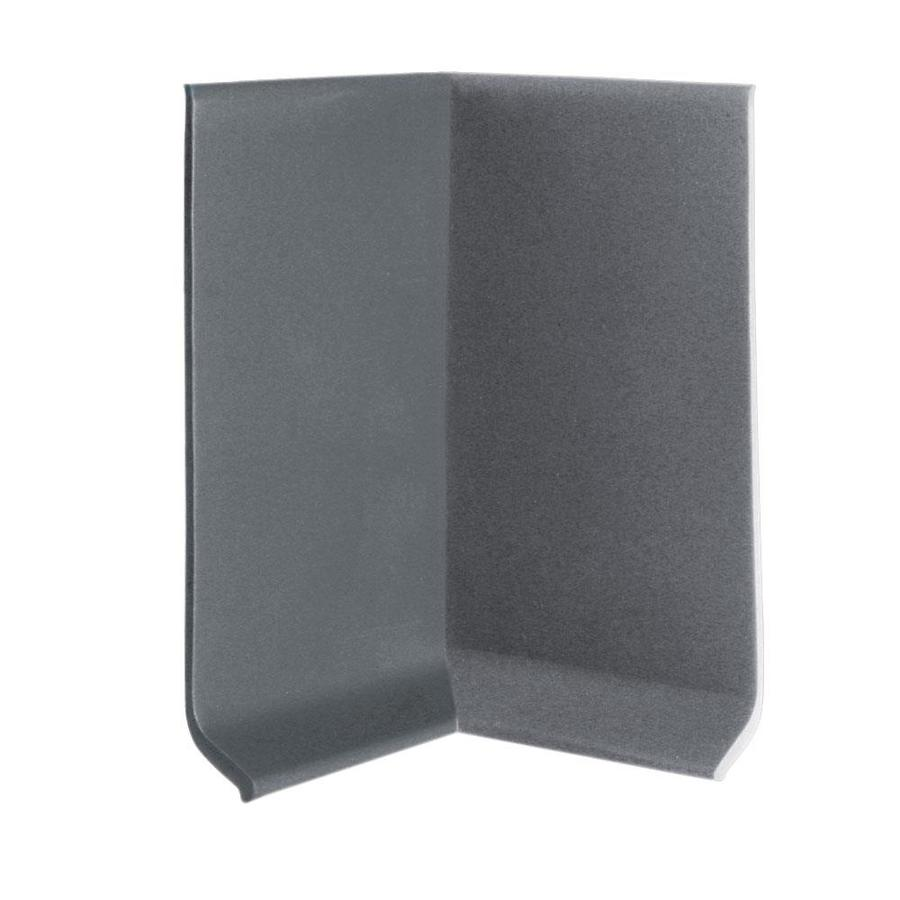 FLEXCO 30-Pack 2.5-in W x 0.25-ft L Charcoal Thermoplastic Rubber Inside Corner Wall Base