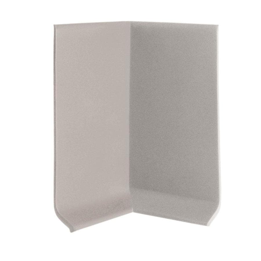 FLEXCO 30-Pack 2.5-in W x 0.25-ft L Light Gray Thermoplastic Rubber Inside Corner Wall Base