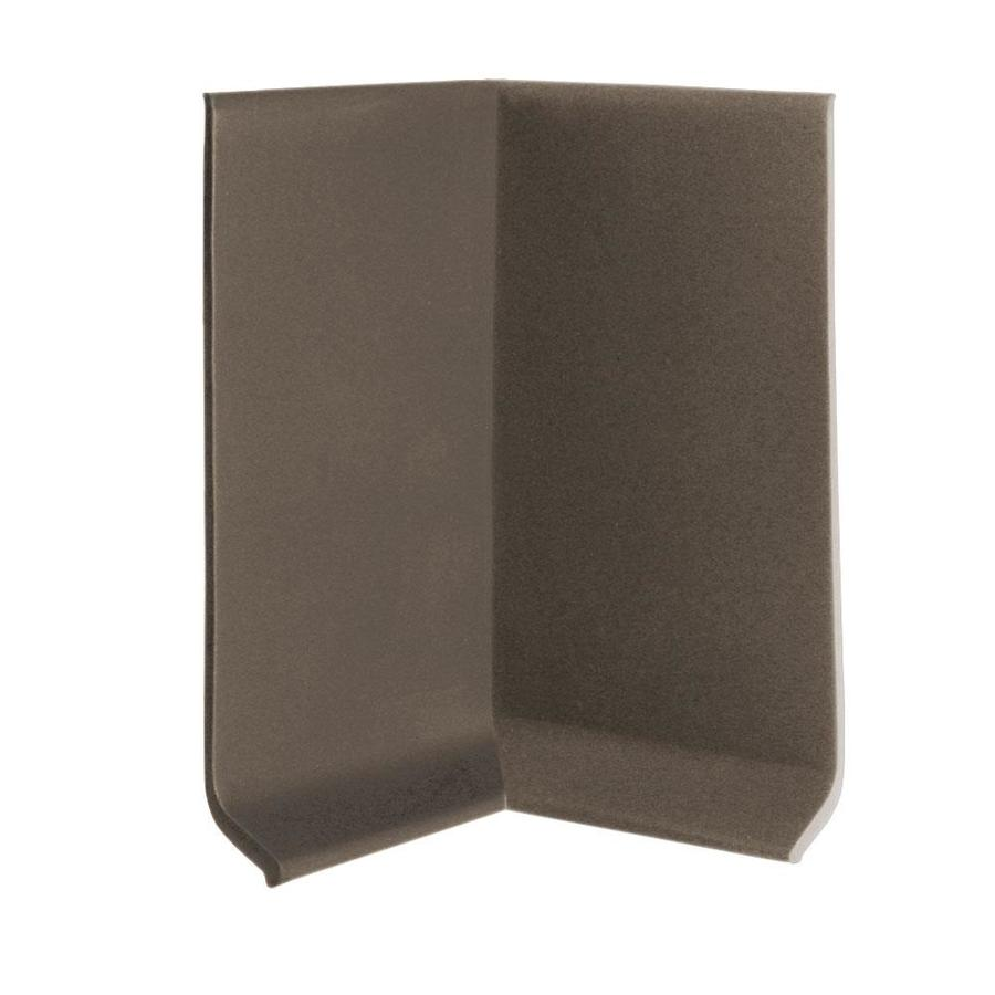 FLEXCO 30-Pack 4-in W x 0.25-ft L Bark Thermoplastic Rubber Inside Corner Wall Base