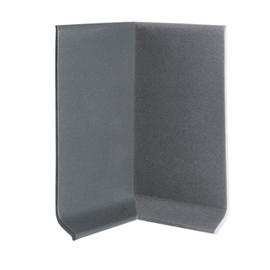 FLEXCO 30-Pack 4-in W x 0.25-ft L Charcoal Thermoplastic Rubber Inside Corner Wall Base