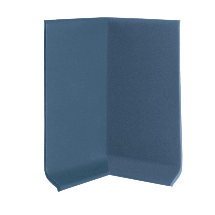 FLEXCO 30-Pack 4-in W x 0.25-ft L Blue Thermoplastic Rubber Inside Corner Wall Base