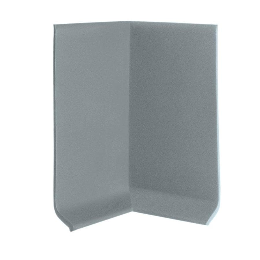 FLEXCO 30-Pack 4-in W x 0.25-ft L Medium Gray Thermoplastic Rubber Inside Corner Wall Base