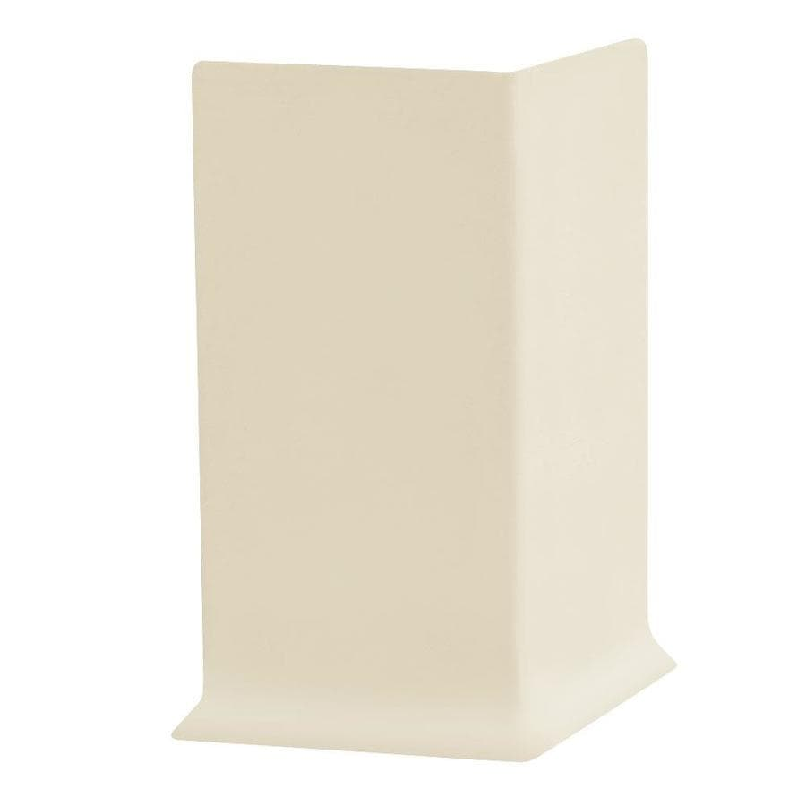 FLEXCO 30-Pack 4-in W x 0.25-ft L Almond Thermoplastic Rubber Inside Corner Wall Base