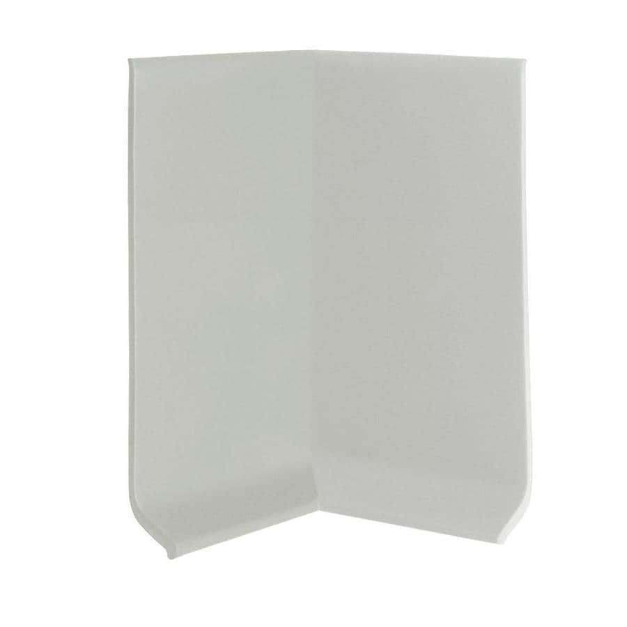 FLEXCO 30-Pack 4-in W x 0.25-ft L Light Gray Thermoplastic Rubber Inside Corner Wall Base