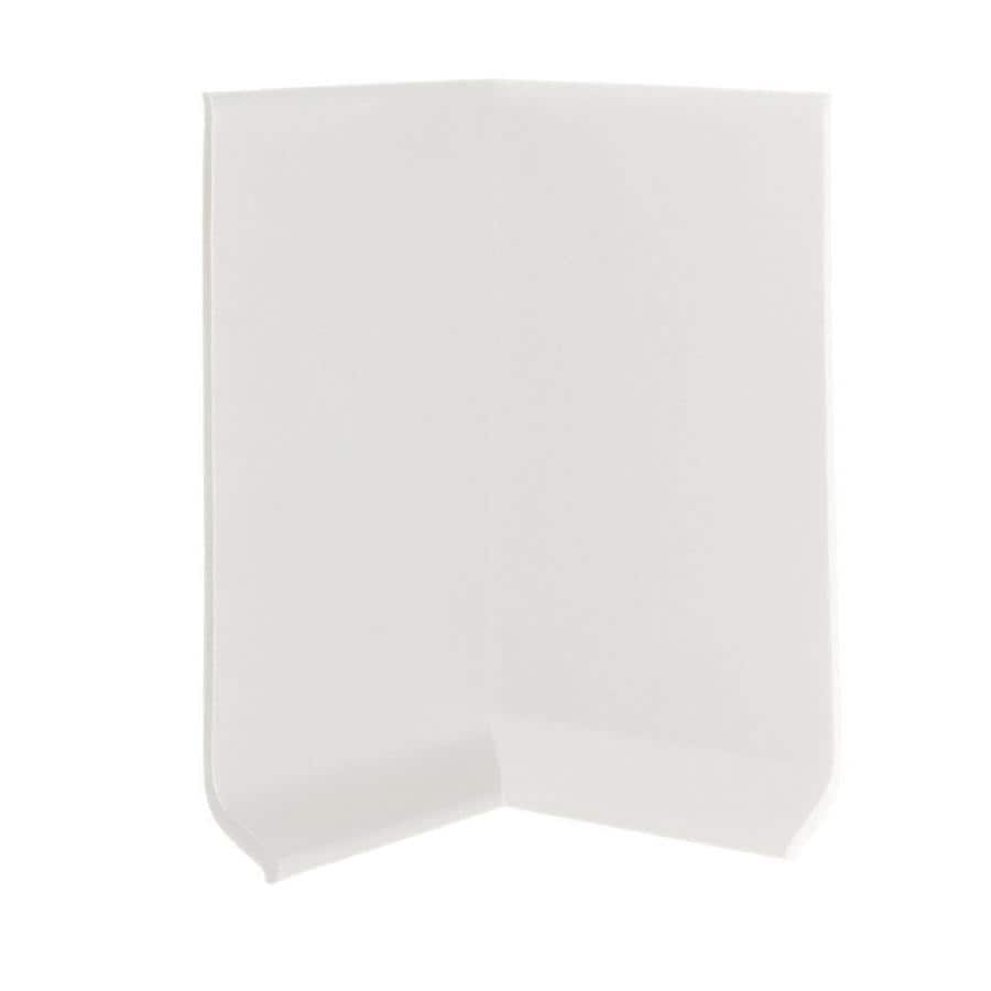 FLEXCO 30-Pack 4-in W x 0.25-ft L Arctic White Thermoplastic Rubber Inside Corner Wall Base