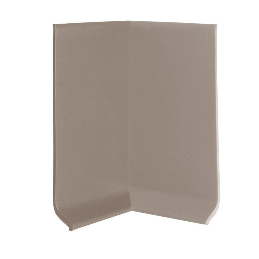 FLEXCO 30-Pack 4-in W x 0.25-ft L Dark Beige Thermoplastic Rubber Inside Corner Wall Base