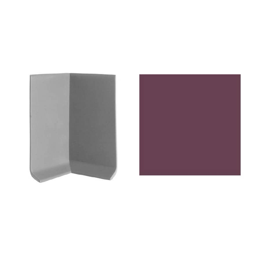 FLEXCO 30-Pack 4-in W x 3-in L Plum Pudding Inside Corner Vinyl Wall Base